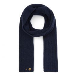Ribbed Cashmere Scarf - Navy