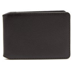 Greenwich Leather Travel Card Wallet - Black & Red