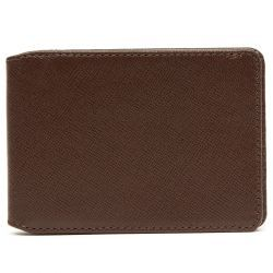 Greenwich Leather Travel Card Wallet - Brown & Orange