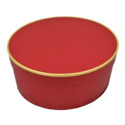 Christys Classic (Large) Red Hat Box for Wide Brim Hats