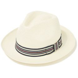 Classic Preset Panama Hat With No1 Regimental Band & Cream Binding