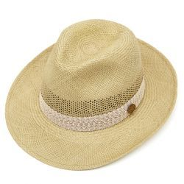 Frances Perforated Panama Hat