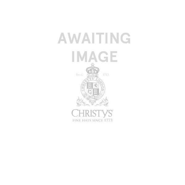 Esme Wide Brim Panama Hat - Gingham Blue