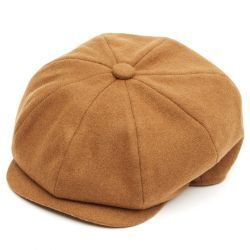 8 Piece Baker Boy Flat Cap - Rust