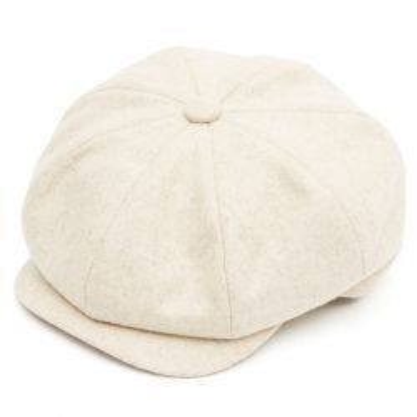 8 Piece Baker Boy Flat Cap - Sandstone