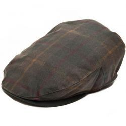 Balmoral Waxed Cotton Flat Cap - Tartan