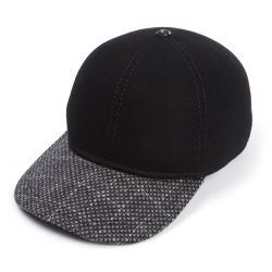 The Kit Ball Cap With Grey Reflective Peak - Black
