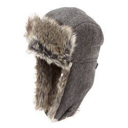Trapper Tweed With Shearling Ears Z537