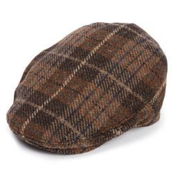 The Jude Flat Cap -  Brown/Navy Tweed