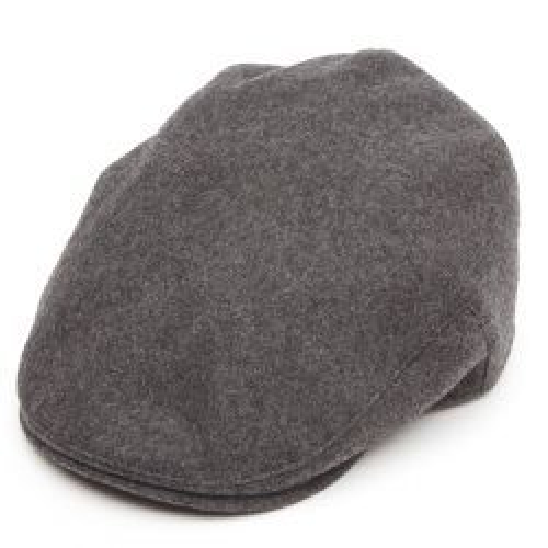 Balmoral Melton Wool Flat Cap - Grey