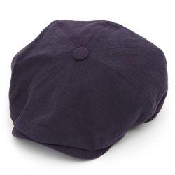 8 Piece Baker Boy Heavy Linen Flat Cap