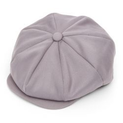 Ellis 8 Piece Satin Wool Flat Cap - Amethyst