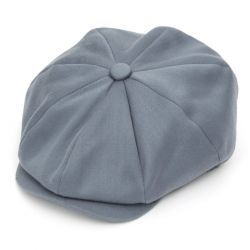 Ellis 8 Piece Satin Wool Flat Cap - Slate