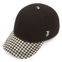 Official Juventus FC Ball Cap with Dog Tooth Peak - Black