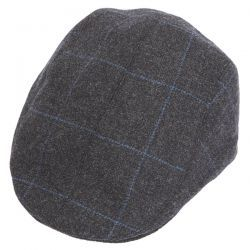Frankie Tailored Driver Tweed Flat Cap - Charcoal
