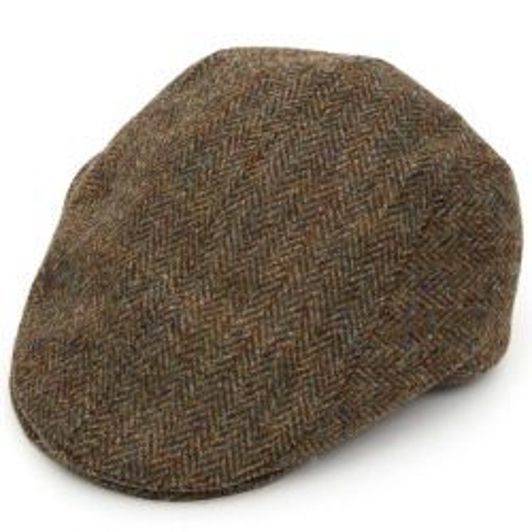 Harris Tweed Tailored Driver Flat Cap