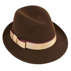 Melissa Fur Felt Ladies Hat - Brown in size M
