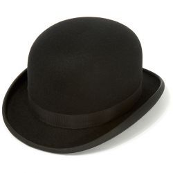 Devon Fur Felt Bowler Hat with Adjustable Hunting Pad