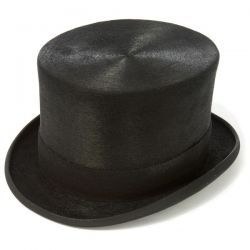 Luxury Black Fur Felt Melusine Top Hat