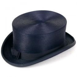 Fur Felt Dressage Hat - Navy