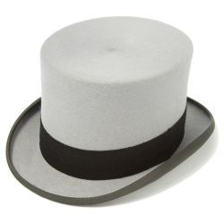 Ascot Fur Felt Grey Top Hat