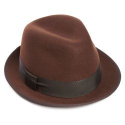 Daphne Wool Felt Trilby Hat - Brown - 55cm (S)